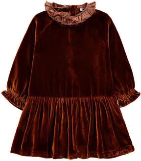 Caramel Lewes Velvet Dress