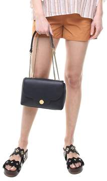 See by Chloe Polina Scallop-edged Textured-leather Shoulder Bag