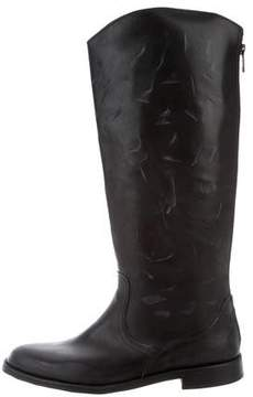 Anine Bing Distressed Mid-Calf Boots