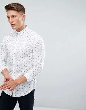 Jack and Jones Slim Shirt With Skull Print