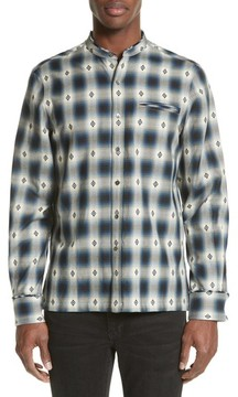 Ovadia & Sons Men's Crosby Raw Edge Print Woven Shirt