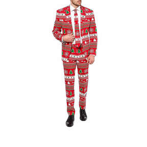 Asstd National Brand Holiday Red Tree OppoSuits 3-pc. Slim Fit Suit Sets