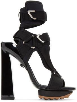 Versace Black Neoprene Sandals