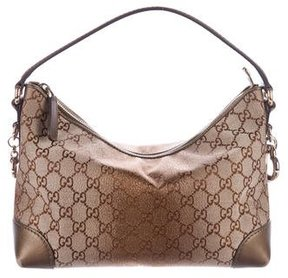 Gucci Metallic Heart Bit Hobo - BROWN - STYLE