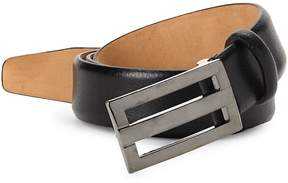 Saks Fifth Avenue Made in Italy Men's Plaque Leather Belt