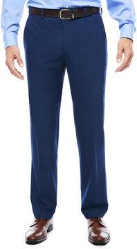 Jf J.Ferrar Men's JF Blue Stretch Flat-Front Slim Fit Suit Pants