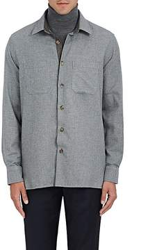 Luciano Barbera Men's Houndstooth Cotton Shirt