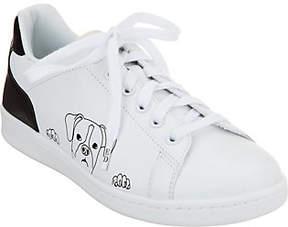 ED Ellen Degeneres Leather Graphic Sneakers -Chapanima