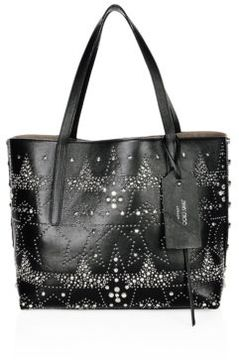 Jimmy Choo Twist East West Star Studded Leather Tote