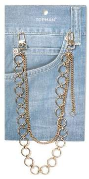 Topman Mens Gold Loop Wallet Chain*