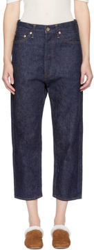 Chimala Blue Selvedge Wide Tapered Cut Jeans