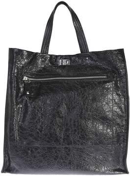 Valentino Black Leather Rockstud Tote Bag