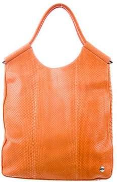 Lambertson Truex Leather-Trimmed Python Bag