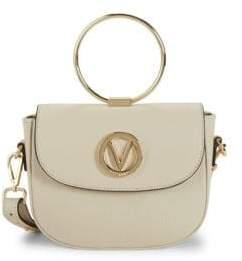 Mario Valentino Lunette Leather Crossbody Bag
