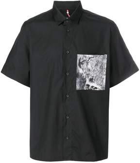 Oamc contrast-pocket shirt