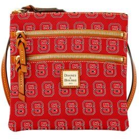 Dooney & Bourke NC State Wolfpack Triple Zip Cotton Crossbody Bag - RED - STYLE