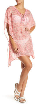 Letarte Leopard Lily Embroidered Cover-Up