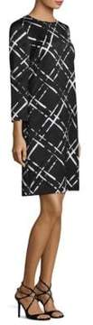 Escada Long Sleeve Jacquard Dress