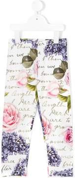 MonnaLisa Chic floral print leggings