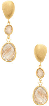 Rivka Friedman Women's 18K Gold Clad Graduated Faceted Gold Rutilated Crystal Earrings