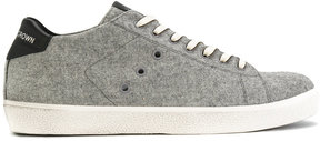 Leather Crown eyelets embellished sneakers