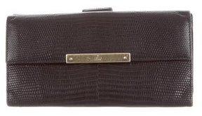 Gucci Vintage Lizard Continental Wallet - BLACK - STYLE