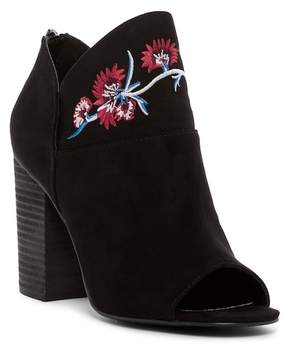 Carlos by Carlos Santana Talana Embroidered Open Toe Bootie