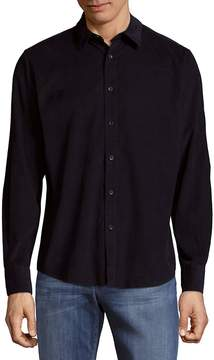 Saks Fifth Avenue BLACK Men's Pinwale Cord Cotton Button-Down Shirt