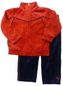 Puma Infant Boys 2 Piece Red & Blue Velor Jacket & Pants Set 24m