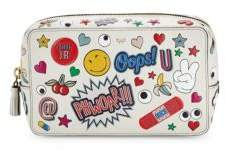 Anya Hindmarch Graphic Leather Make-Up Pouch