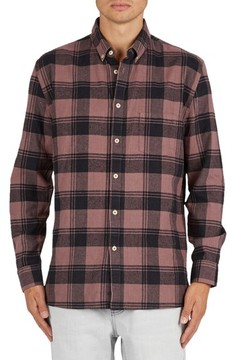 Barney Cools Men's Cabin Plaid Flannel Sport Shirt