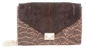 Loeffler Randall Snakeskin Junior Lock Clutch