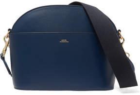 A.P.C. Gaby Leather Shoulder Bag - Blue
