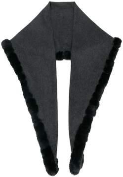 N.Peal triangular trimmed scarf