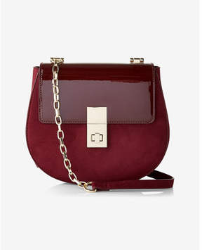 Express Patent Turnlock Cross Body Saddle Bag