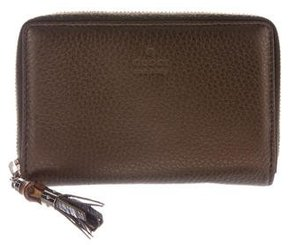 Gucci Bamboo Zip-Around Wallet - BROWN - STYLE