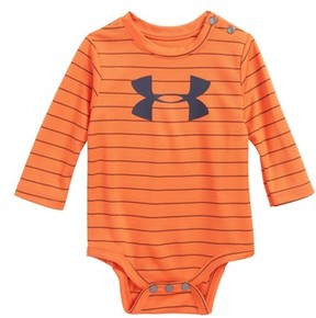 Under Armour Infant Boy's Big Logo Stripe Bodysuit