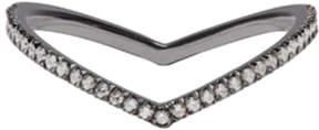 Eva Fehren Blackened Gold Diamond Private Ring
