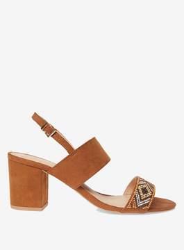 Dorothy Perkins Tan Skittle Beaded Sandals