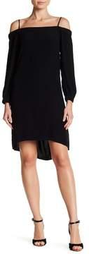 Chelsea28 Long Sleeve Cold Shoulder Shift Dress
