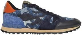 Valentino Rockrunner Camustars Denim Sneakers