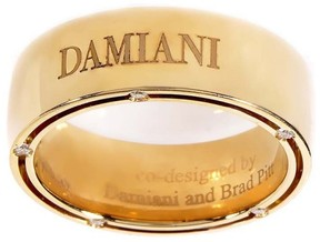 Damiani 18K Yellow Gold Diamond Band Ring Size 5.5