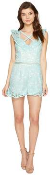 Adelyn Rae Sabina Woven Lace Romper Women's Jumpsuit & Rompers One Piece