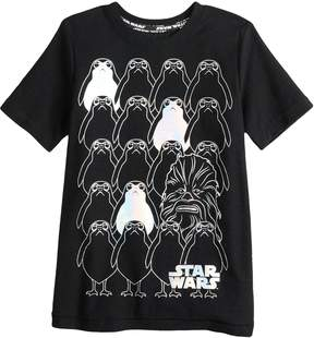 Star Wars A Collection For Kohls Boys 4-7x a Collection for Kohl's Porges and Chewie Tee