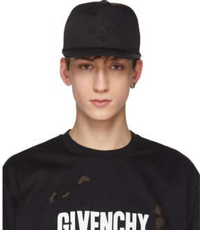 Givenchy Black Three-Star Logo Cap