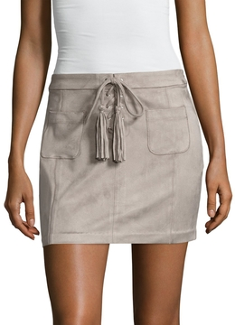 Dolce Vita Women's Madden Fringe Trimmed Mini Skirt