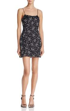 Cotton Candy Strappy Star Print Mini Dress
