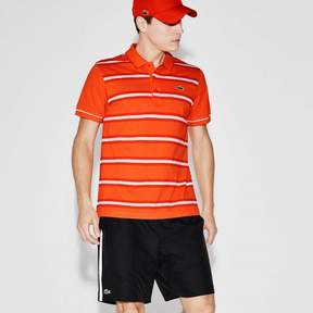 Lacoste Mens Striped Polo Victorian/Royal/White