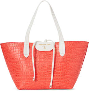 Patrizia Pepe Red Croc-Embossed Tote