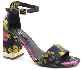 Kensie Sahar Floral Block Heel Sandal